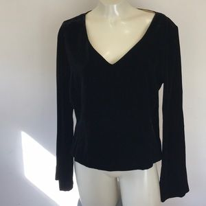 Black Velvet Long Sleeve Top